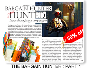 WHEN THE BARGAIN HUNTER GETS HUNTED PART 1